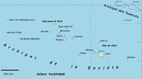 info polynesie carte geographique